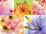 mini beautiful flowers vector background 157870 190x140 in  | Grapheez