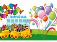 mini happy birthday theme vector 153891 190x140 in  | Grapheez