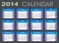 mini detailed 2014 calendar 310370 190x140 in  | Grapheez